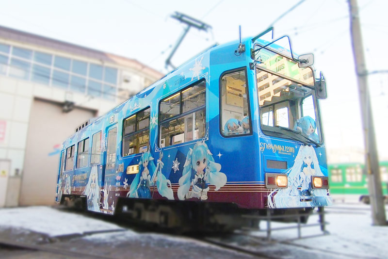 2019雪ミク電車