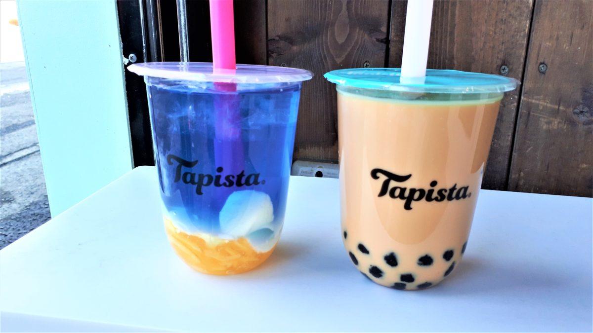 Tapista(タピスタ)札幌狸小路店のオーロラレモネードとミルクティー