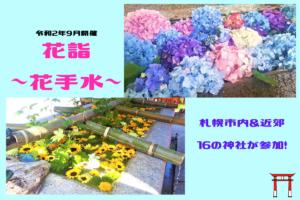 【9/1~22】札幌&近郊の神社で『花詣~花手水~』開催!手水鉢にお花が浮かび心を癒す♪お詣りして平穏な日常を祈りたい【花手水】